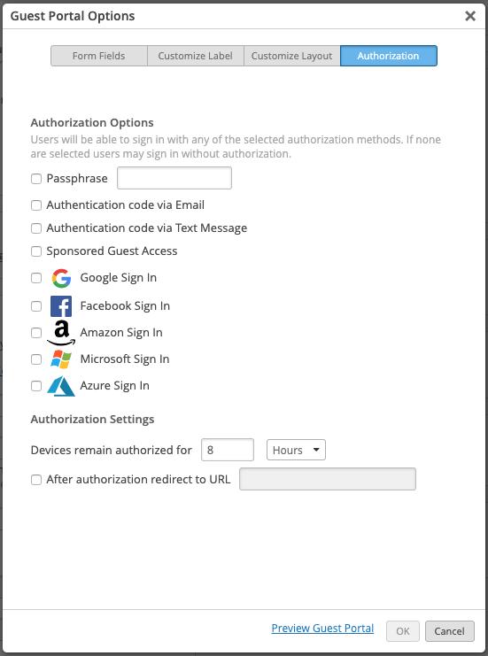 Mist Guest Portal Authorization