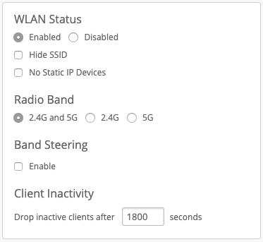Mist WLAN Status Konfiguration
