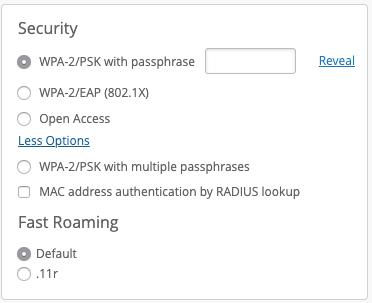 Mist Security Konfiguration